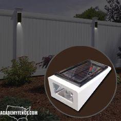 Lights For Fences Solar Wedges Academy Fence Company Nj Pa Ny