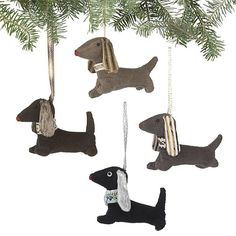 dachshund christmas ornaments crate and barrel