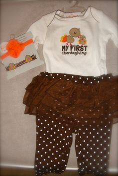 Baby girl Thanksgiving outfit from Target!