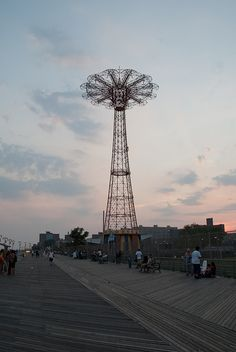 Coney Island - brooklyn ny Astro Tower coming down today 7-4-13