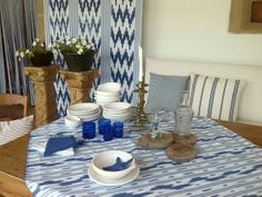 Frehs spaces with Mallorcan fabrics Summer feeling