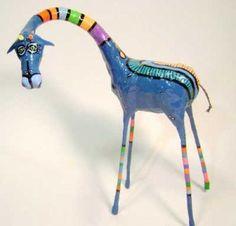 Paper mache: Giraffe by Juan Busch