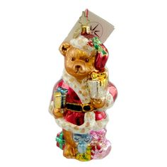 A Bear To Care Glass Ornament