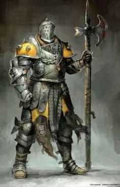 m Fighter Plate Armor Helm Halberd midlvl For Honor concept art by Guillaume Menuel : forhonor Fantasy Character Design, Character Concept, Character Art, Armadura Medieval, Medieval Armor, Medieval Fantasy, Fantasy Armor, Dark Fantasy, Fantasy Art Warrior