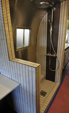 remodel of a camper shower...now this is glamping!!!