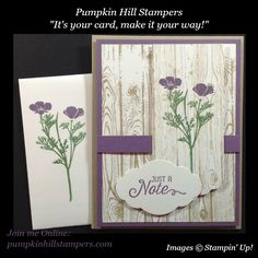 Wild About You, Hardwood, Stampin' Up stamp sets.  Video demonstration and all details are on my blog, just VISIT!