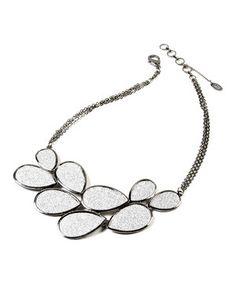 Look at this #zulilyfind! Amrita Singh Gunmetal & Silver Teardrop Bib Necklace by Amrita Singh #zulilyfinds