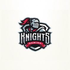 Whether you're a hardcore gamer entering DOTA tournaments or a casual gamer building alliances in a League of Legends guild, to unite fans, attract players and sponsors, you need a cool gaming logo for your team. Knight Logo, Game Logo Design, Esports Logo, Learning Logo, Sports Team Logos, E Sport, Bold Logo, Mascot Design, Logo Design Inspiration
