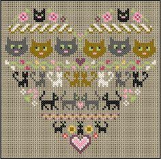 cats cross stitch: