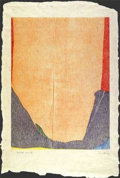 Helen Frankenthaler East and Beyond, 1973 Woodcut in 7 colors on handmade laminated Nepalese buff paper