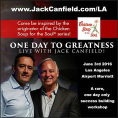 . My mentor and great friend Jack Canfield is coming to LA on June 3rd to change your life with an incredible one-day training workshop that I want you to be part of! . Im sure that youve heard me reference the incredible impact that Jack has had on my life personally and now you can experience Jack in person as well. . @jackcanfield_official is the man who created the Chicken Soup for the Soul series and wrote The Success Principles and numerous other NY Times best-selling books. . Hes also…