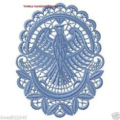 HEIRLOOM LACE EAGLE - 2 EMBROIDERED HAND TOWELS by Susan