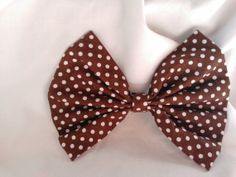 Very popular brown polka dot hair bow by TheDABcollection on Etsy, $3.99