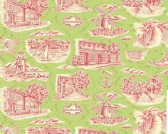 contemporary toile (Nantucket)