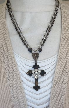 Florence AgainVintage assemblage necklace by frenchfeatherdesigns~<3
