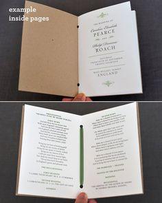 Vintage Order of Service Wedding Program by twoforjoypaper