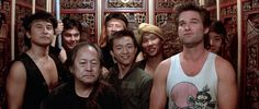 """""""Is it getting hot in here, or is just me?"""" - Said by 'Jack Burton' (Kurt Russell) from Big Trouble In Little China Sci Fi Movies, Movies To Watch, Good Movies, Action Movies, Chinatown Film, James Hong, China Movie, Kurt Russell, Dwayne The Rock"""