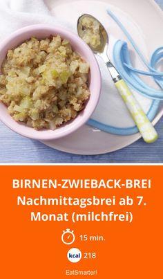 Birnen-Zwieback-Brei - Nachmittagsbrei ab 7. Monat (milchfrei) - smarter - Kalorien: 218 Kcal - Zeit: 15 Min.   eatsmarter.de