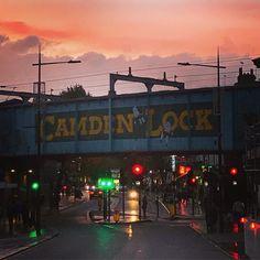 Scenes on the commute home from work today   Photo by @theemilyflora  # # # # # #camden #camdentown #sunset #streetfood #kerb #kerbcamden #kerbfood #london #londonist #camdenmarket #camdenyards #camdenlock
