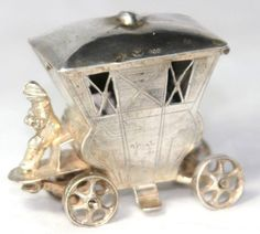 Figural Coach Thimble Holder Circa 1800  German Hallmarks US $601.59 in Antiques, Sewing (Pre-1930), November 2014