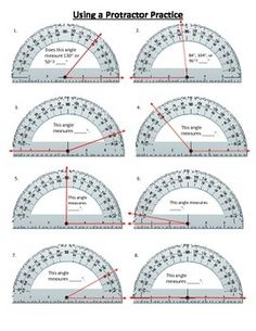 Worksheets Protractor Worksheets measuring angles worksheets school stuff pinterest using a protractor to measure angles