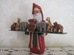 Hand Carved Santa w/ Noah's Ark | Flickr - Photo Sharing!  buckscountyfolkart