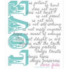 Love Verse Printable