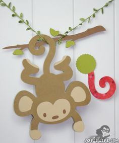 Pin the Tail on the Monkey made with a Cricut.