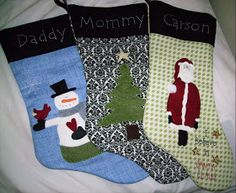 centsibly chic sisters: Make Your Own Christmas Stockings (nat)