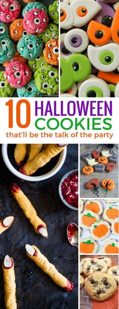 These Halloween cookies are the perfect mix of sweet and spooky! The kids will love them!