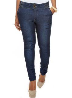 55405ebe6f0 Rainbow Shops Plus Size Skinny Jeans with Decorative Waist  22.99
