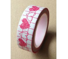 Drawing Heart  Japanese Washi Masking Tape  11 yards by zakkalover