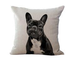 French Bulldog Linen Pillows - Where's My Treat?