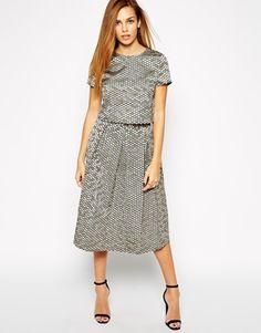 Enlarge Girls on Film Sequin Effect A Line Midi Skirt