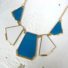 Necklace Blue - One Size Gold Jewelry, Gold Necklace, Jewelry Stores, Accessories, Fashion, Angel, Moda, Gold Pendant Necklace, La Mode