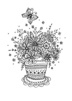 Claire Mcelfatrick - Flowerpot Linework