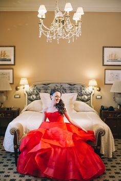 Elegant wedding in the #GrandeBretagneHotel in Athens! The bride was wearing a stunning #redVeraWang wedding dress, a strapless ballgown in red with layers of tulle and organza. The color red symbolizes love, good fortune and joy. A hands down stunning and one of a kind dress! Such an amazing wedding in the heart of Athens, Greece. Captured by #AnnaRoussos http://www.love4wed.com/elegant-wedding-with-a-stunning-red-vera-wang-wedding-dress/ #redweddingdress #luxuryhotels #weddingsinAthens