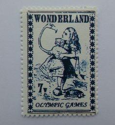 Gerald Kings 'Alice in Wonderland' Olympic Games Cinderella Stamp | eBay