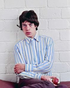Mick Jagger photographed in Paris for a 1966 shoot for Salut Les Copains, shot by Jean Marie Perier.