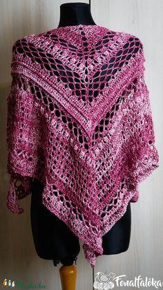 Borszínű denim horgolt kendő (Fonalfaloka) - Meska.hu Crochet, Fashion, Crochet Hooks, Moda, La Mode, Crocheting, Fasion, Fashion Models, Thread Crochet