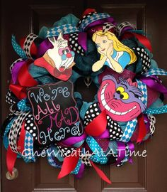 Alice in Wonderland Wreath ONE WREATH AT A TIME