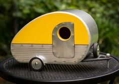 Vintage Teardrop Camper Birdhouse by jumahl on Etsy, $60.00