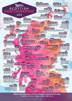 New 5pm Gin Map of Scotland 2017