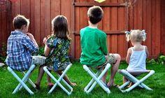 Garten Möbel selber bauen Klappstuhl