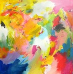 Abstract painting large original art colorful by JessicaTorrant, $800.00