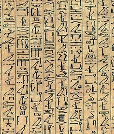 Egyptian Hieroglyphs. They were first thought to be picture writing.