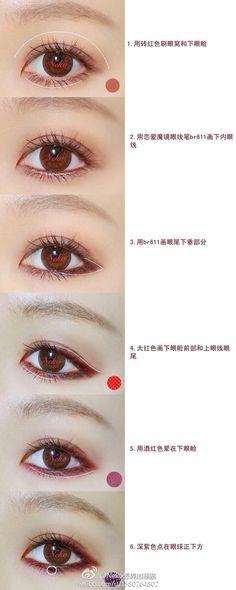 Baekhyuns Red eyeliner.... www.AsianSkincare.Rocks