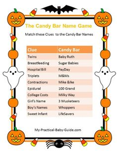 Free Printable #Halloween #Baby #Shower Word Search Game. Visit ...