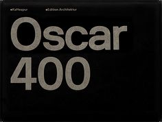 Edition Architektur (Kaffeepur), Oscar 400 Product Design & Packaging by S. Gandl, Neubau