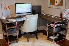 DIY Office computer desk by Amanda May Photos